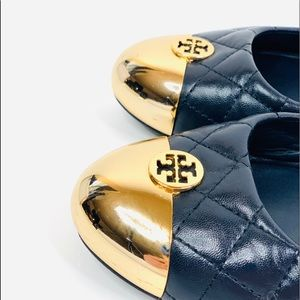Tory Burch Shoes - Authentic Tory Burch Kaitlin Flats Gold Quilted